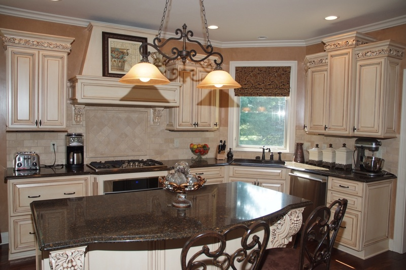 Kitchen with intricate moulding