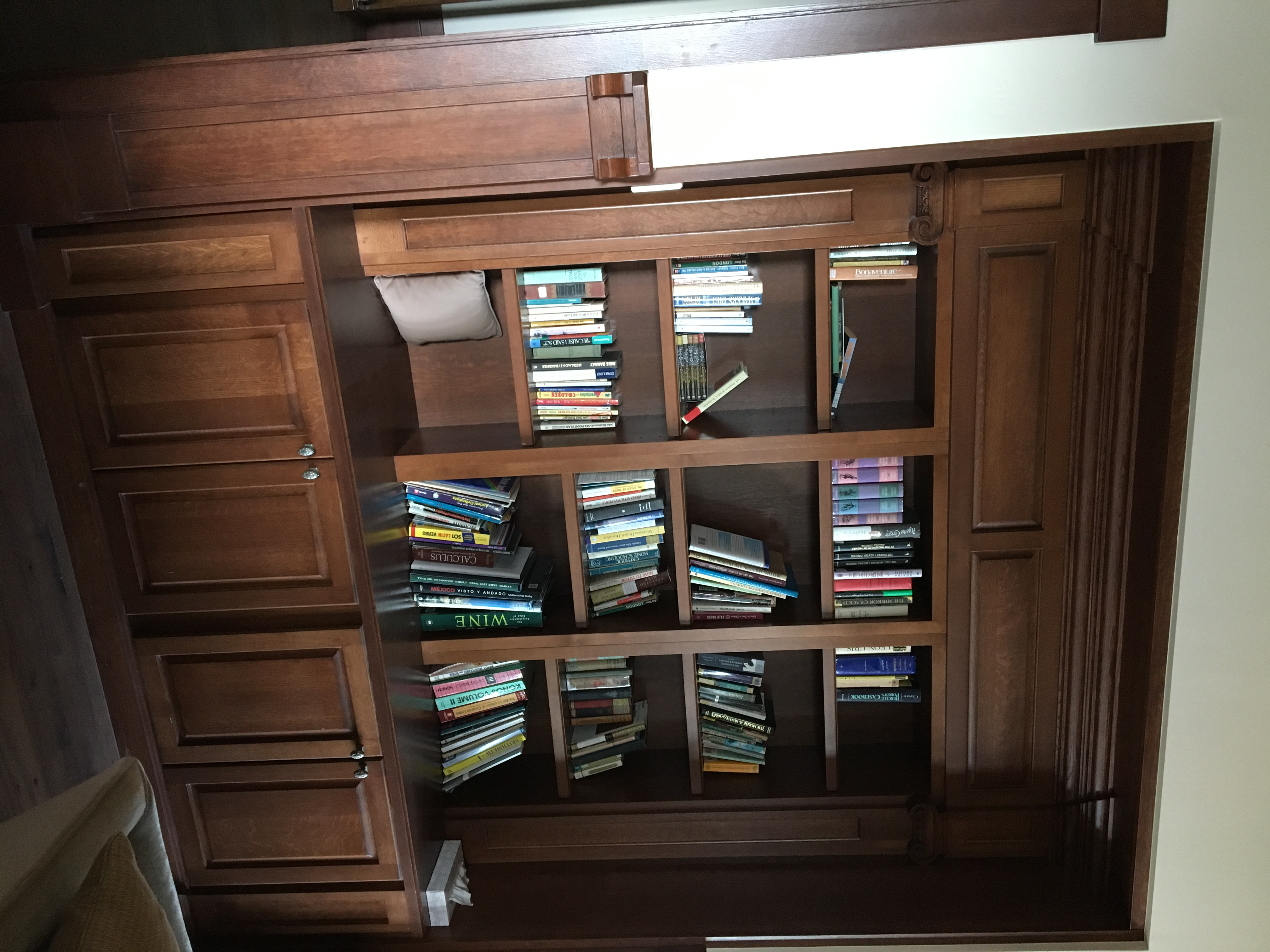 The Master bookcases