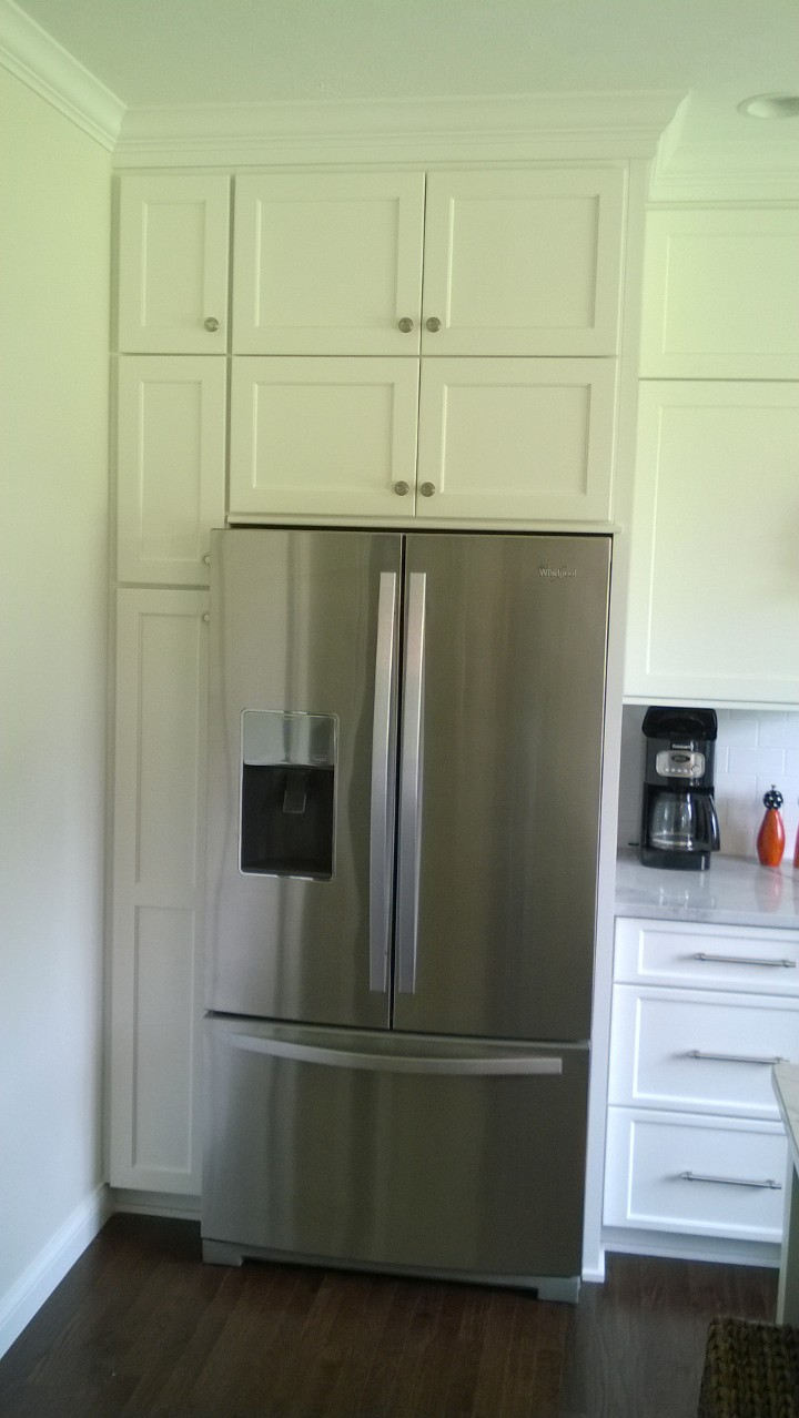 Built in refrigerator.