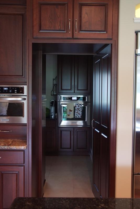 Pantry access door, open.