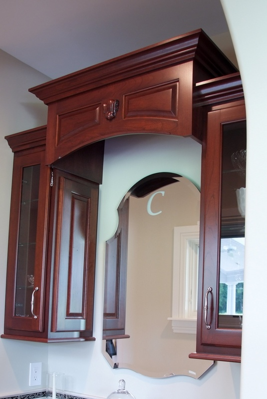 Drop zone upper cabinetry